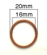 Crush Washer, Oil Drain Plug 16 x 20 BMW; 07 11 9 963 252,OF-CW252 X 5 PACK