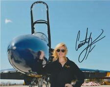 2013 Courtney Force signed U.S. Blue Angels F/A Hornet NHRA 8x10 Photo