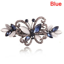 Crystal Butterfly Hair Clip Bow Knot Barrette Flower Hairpin Rhinestone In ZN VB