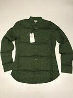 NEXT Button Down Collar Long Sleeve Shirt in Polka Dot Green  (rst126)