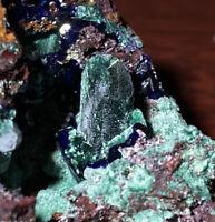 MALACHITE after Azurite - Morenci Mine, Clfton, Greenlee County, Arizona