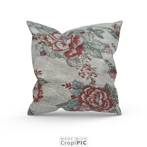 Cushion Covers Or Complete Cushions Vintage Floral Jacquard Fabric All Sizes