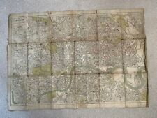 LONDON MAP FOR THE POST OFFICE DIRECTORY 1916 CLOTH
