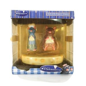 Disney's Pixar Ratatouille Salt Pepper Shaker Set Remy Emile Cheese SUPER RARE