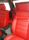 2008 2009 2010 Jeep Wrangler Jk 4 Door Leather Seat Covers Salsa Red Custom