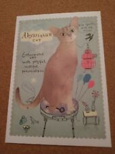 New ListingCat Postcard. Modern. Humor. Abyssinian Cat. New. Continental size.