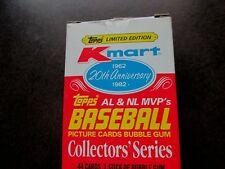 K-MART 1962-1982 - 20TH ANNIVERSARY - AL & NL MVP's - TOPPS COLLECTOR SERIES