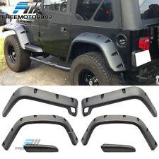 "For 97-06 Jeep Wrangler TJ 7"" Wide POCKET Style Protector Fender Flares 6PC Set"