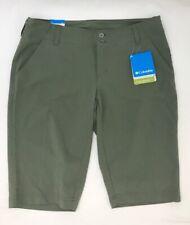Columbia Active Womens Shorts Size 6 Omni-Shield Olive Green Bermuda Knee Length