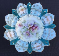 """UM RS PRUSSIA 11"""" FLORAL BOWL WITH CLEMATIS DECORATION """"AWESOME LOOKING BOWL"""""""