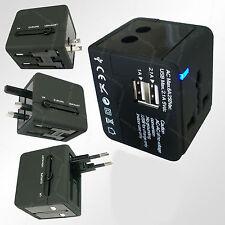 Universal WorldWide Travel USB Charger Adapter wall Plug US USA AU EU UK Cube