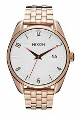 NWOT Nixon The Bullet Watch All Rose Gold Silver Mens Womens aa275