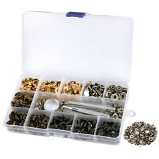 100Sets 12.5mm Snap Fasteners Popper Press Stud Button Clothing Fixing Tool Kit