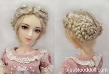 "1/4 1/3 bjd 7-8"" doll head wheat blonde braid style wig dollfie Luts Iplehouse"
