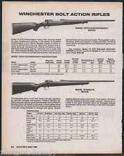 1988 WINCHESTER Model 70XTR Featherweight & 70 Winlite Rifle AD