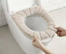 Hot Sale Comfortable Velvet Coral Bathroom Toilet Seat Cover Winter Toilet Cover
