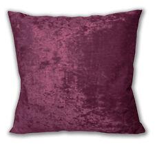 Mv13a Deep Mauve Diamond Crush Velvet Cushion Cover/Pillow Case Custom Size