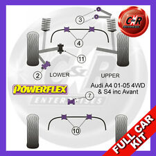 Audi S4 B6 + Avant Powerflex Full Kit Front Upper Arm To Chass Bushes Camber Adj