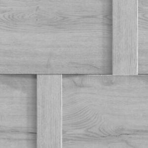 Debona Harrow Grey Wood Panel Effect Wallpaper 6739 (paste To Paper)