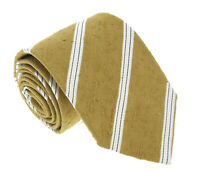 Missoni U4221 Mustard/Cream Regimental 100% Silk Tie