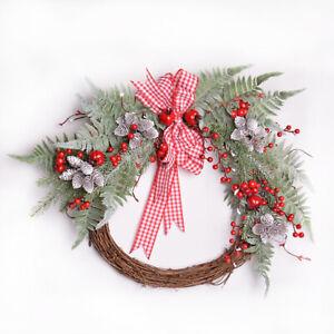 12pcs Xmas Artificial Pine Branch Cone Berry Holly Flower Pick Christmas Decor