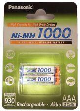 2x Panasonic Micro Akku NiMh AAA HR4U im Blister - 1000 mAh OVP + NEU!