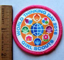 Girl Scout 2016 WORLD THINKING DAY PATCH International Friendship Badge Emblem