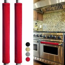2pcs Refrigerator Handle Cover Smudges Door Oven Kitchen Appliance Handle Cover