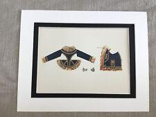 Antique Costume Print 19th Century Hungarian Jacket Historical Fashion