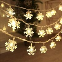 LED Snowflake Fairy String Window Lights Christmas Party Decor Night Lights Lamp
