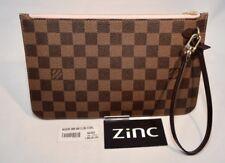 Louis Vuitton Neverfull Damier Ebene Rose Ballerine Pochette Wristet N41603