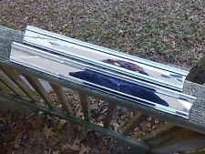1965 Buick LeSabre Trunk panel chrome trim molding 1372193  1372192