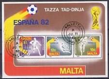 Malta 1982 gestempeld block 7 - WK voetbal Spanje (SG102)