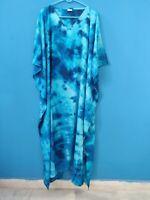 Women'S Casual Kaftan Plus Size Long Maxi Gown Night Dress Tie-Dye Beach Caftan