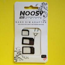 BLACK NOOSY Nano/Micro SIM Adapter APPLE iPhone 4 4S 5 5C 5S/iPad 2 3 4 Air/Mini