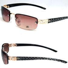 New WB Eyewear Womens Mens Oval Sunglasses Designer Shades Fashion Rimless Small