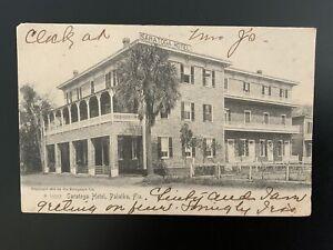 Vintage Postcard, A 15662 Saratoga Hotel, Palatka, Florida, © 1905 by Rotograph