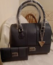 AUTHENTIC NEW NWT GUESS DAYTON BOX  SATCHEL HANDBAG PURSE & WALLET