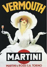 """Vintage Plate"""" 1910 Martini & Rossi """"advertising, advertising, posters, Plate, Back"""