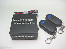 12V 30A 0v output switch with 2 MOMENTARY remote control RX101M2