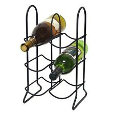 Townhouse 6-Bottle Wine Rack - Black