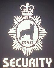 2 X REFLECTIVE GERMAN SHEPHERD DOG HANDER VEHICLE STICKER DECALS (s587)