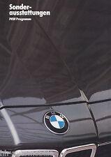 BMW Sonderausstattungen PKW Programm Prospekt 1/85 1985 brochure equipment