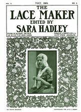 Sara Hadley #2.05, May 1904 Rare Instruction Book of  Lovely Irish Crochet Laces