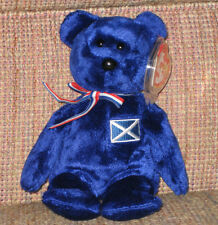 TY SCOTLAND the BEAR BEANIE BABY - UK EXCLUSIVE - MINT with NEAR PERFECT TAG