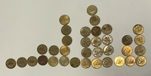 1964 - 1990 Kuwait 5 Fils Lot 35 Coins