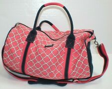 Ame And Lulu Duffle Bag Tennis Tote Preppy Golf travel Blue White Pink