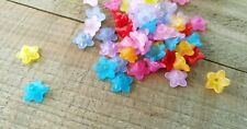 24 Flower Beads Acrylic Beads Assorted Lot Lily Beads 9mm Beads BULK Beads