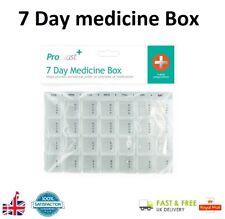 7 Day Pill Box Medication Medicine Holder Organiser Weekly Tablet Box GEM UK