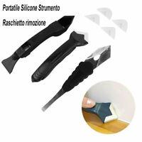 Portatile Silicone Strumento Raschietto rimozione Kit Caulking Spatula Tool